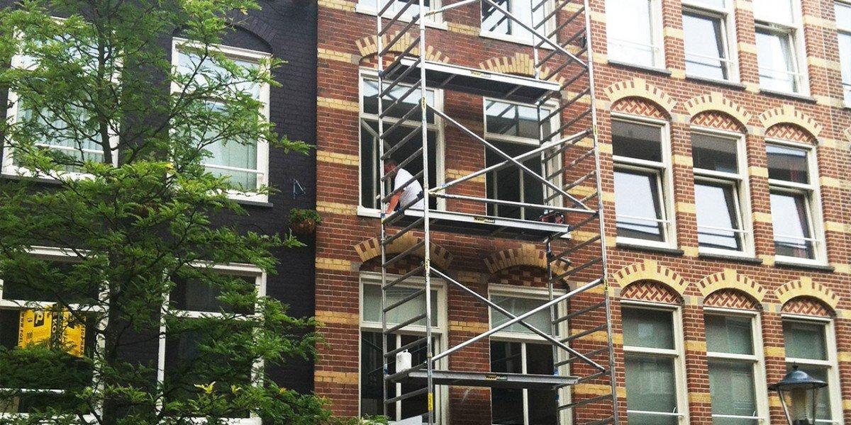 schilderwerk 6 woningen Kemperstraat Amsterdam