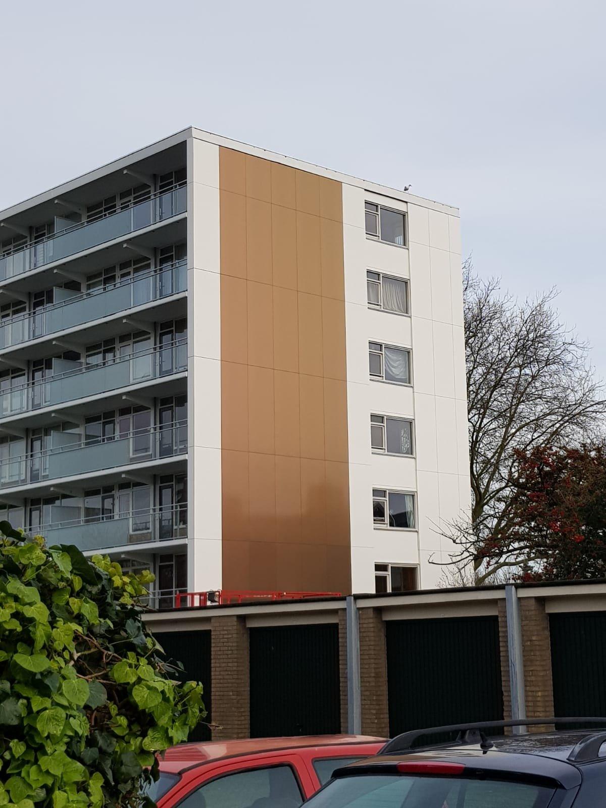 Renovatie kopgevels 4 flats te Haarlem